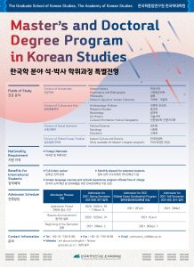 Academy of Korean Studies (AKS) - 2021 Spring Semester Admission Guide